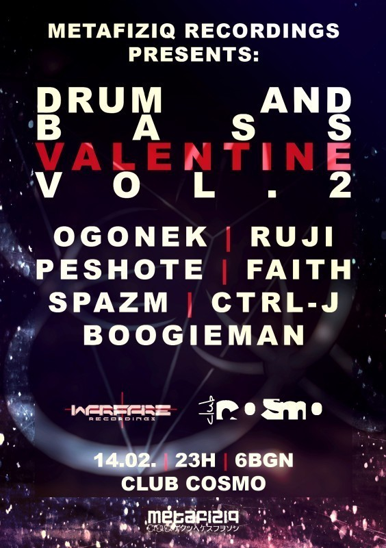 DRUM AND BASS VALENTINE vol.2 | COSMO CLUB - 14.02.2015 - SATURDAY